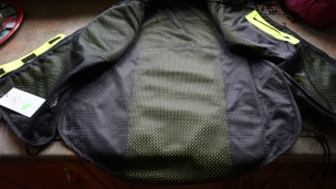 Nylon Liner with inside pocket showing